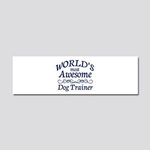 Dog Trainer Car Magnet 10 x 3