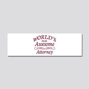 Awesome Attorney Car Magnet 10 x 3