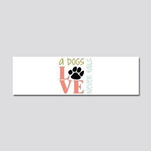 A Dogs Love Car Magnet 10 x 3