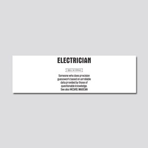 Funny Electrician Definition Car Magnet 10 x 3