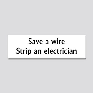 Save A Wire Car Magnet 10 x 3