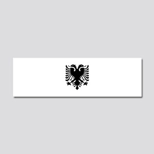 Albanian Eagle Car Magnet 10 x 3