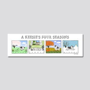 The Four Seasons Keeshond Car Magnet 10 x 3