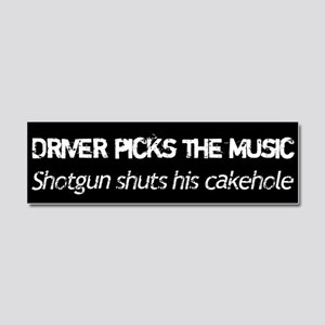 Driver Picks The Music Car Magnet 10 x 3