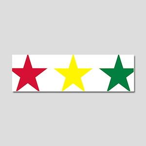 stars_reggae Car Magnet 10 x 3