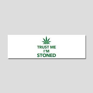 Trust me I'm stoned marijuana Car Magnet 10 x 3