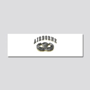 US Army Airborne Wings Silver Car Magnet 10 x 3