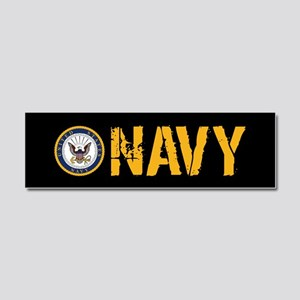 U.S. Navy: Navy (Black) Car Magnet 10 x 3