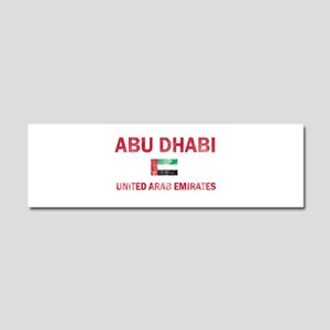 Abu Dhabi United Arab Emirates Designs Car Magnet