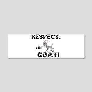 Goat-Respect-grunge Car Magnet 10 x 3