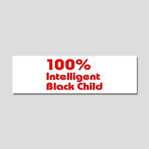 100% Intelligent Black Child Car Magnet 10 x 3