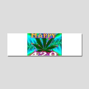 happy 420 Car Magnet 10 x 3