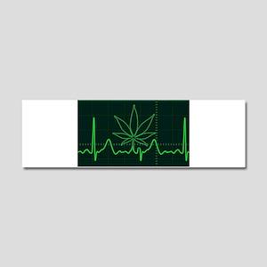 Canna Heartbeat Car Magnet 10 x 3