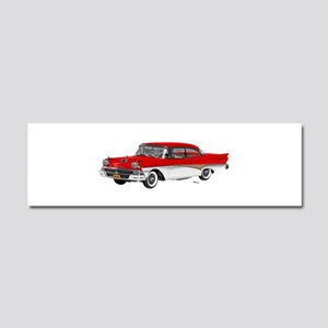 1958 Ford Fairlane 500 Red & White Car Magnet 10 x