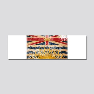 British Columbia Flag Car Magnet 10 x 3