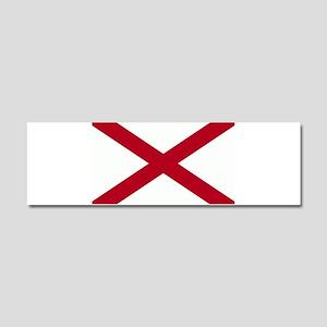 Alabama Flag Car Magnet 10 x 3