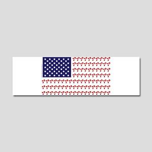 Patriotic BMX Bike Rider/USA Car Magnet 10 x 3