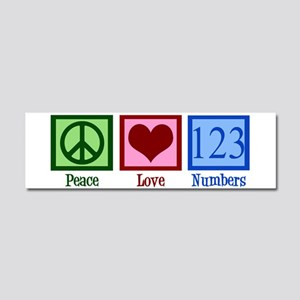 Peace Love Numbers Car Magnet 10 x 3