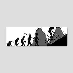 Mountain-Biking Car Magnet 10 x 3
