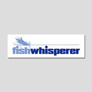 fishwhisperer 4 Car Magnet 10 x 3