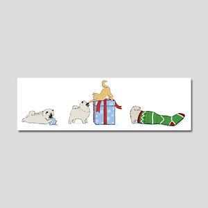 Keesie Puppies Christmas Car Magnet 10 x 3