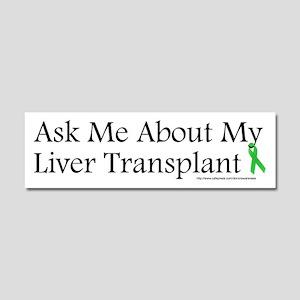 Ask Me Liver Car Magnet 10 x 3