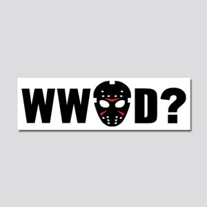 What would Jason Voorhees do? Car Magnet 10 x 3