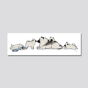 Keeshond with Puppies Car Magnet 10 x 3