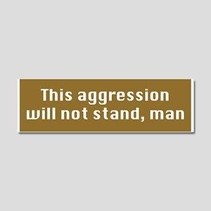 This aggression-CP Car Magnet 10 x 3