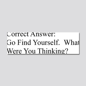 Go F yourself!2 Car Magnet 10 x 3