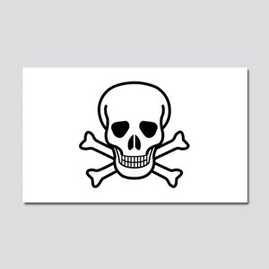 Skull and Crossbones Car Magnet 20 x 12