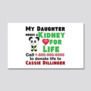 Personalize Kidney Donation Car Magnet 20 x 12