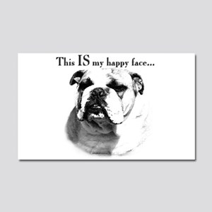 Bulldog Happy Face Car Magnet 20 x 12