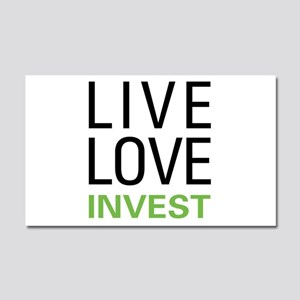Live Love Invest Car Magnet 20 x 12