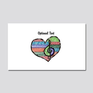 Personalized Music Doodle Hea Car Magnet 20 x 12