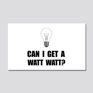 Watt Watt Light Bulb Car Magnet 20 x 12
