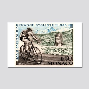 1963 Monaco Racing Cyclist Postage Stamp Car Magne