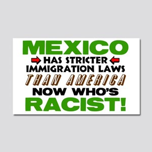 Now Whos Racist Car Magnet 20 x 12
