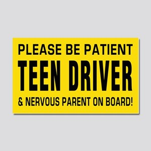 Teen Driver and parent on board Car Magnet 20 x 12