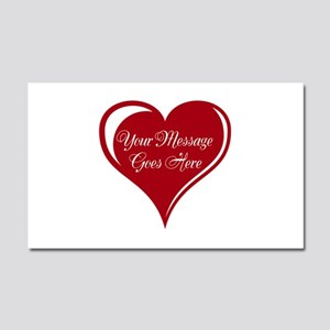 Your Custom Message in a Heart Car Magnet 20 x 12