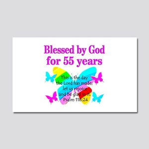BLESSED 55 YR OLD Car Magnet 20 x 12