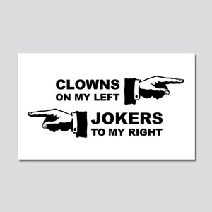 Clowns & Jokers Car Magnet 20 x 12