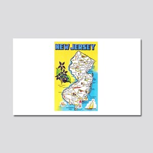 New Jersey Map Greetings Car Magnet 20 x 12