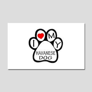 I Love My Havanese Dog Car Magnet 20 x 12