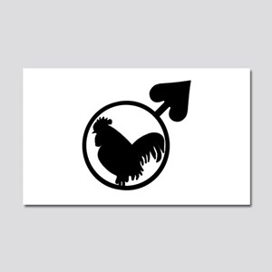 Black Cock Car Magnet 20 x 12