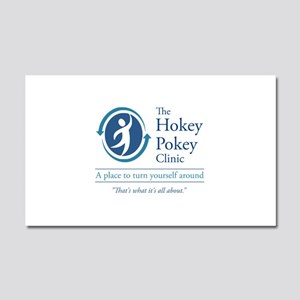 The Hokey Pokey Clinic Car Magnet 20 x 12