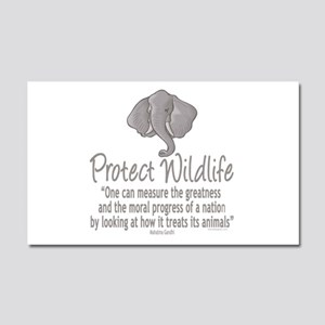 Protect Elephants Car Magnet 20 x 12