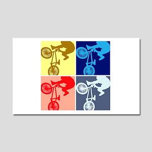 BMX Bike Rider/Pop Art Car Magnet 20 x 12