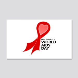 World AIDS Day Red Ribbon Car Magnet 12 x 20