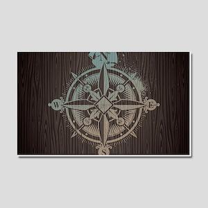 Nautical Compass Car Magnet 20 x 12